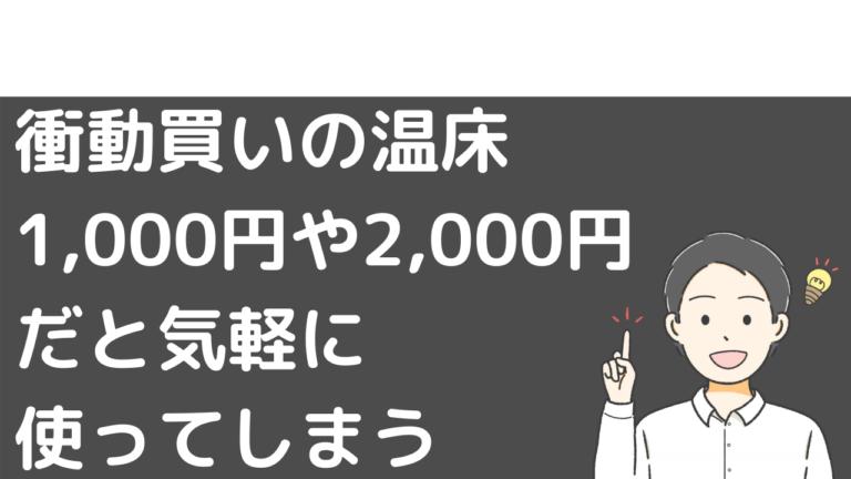 衝動買いの温床。1,000円や2,000円だと気軽に使ってしまう